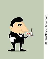 camarero, caricatura