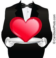 camarero, corazón