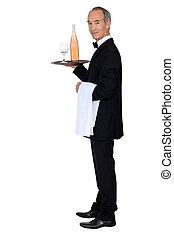camarero de vino