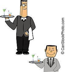 camareros, en, 2, estilos