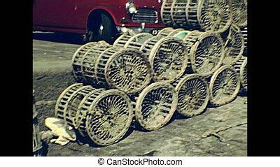 Camaret sur Mer fishing nets - Camaret-sur-Mer town port...