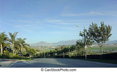 Camarillo Streets and Mountains, CA - Streets and mountains...