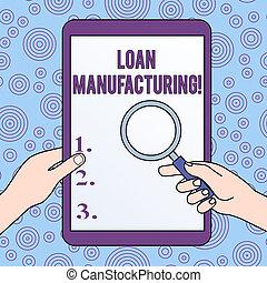 cambiado, proceso, foto, préstamo, cheque, manufacturing., ...