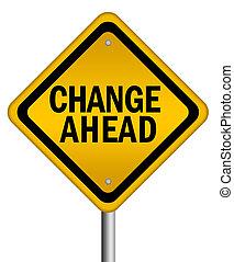 cambiamento, avanti, segno