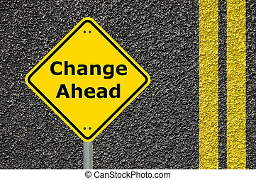 cambio, adelante