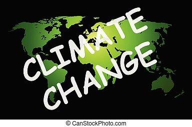 cambio climático, representación