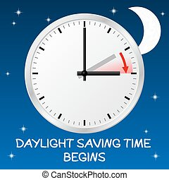 cambio, día, tiempo, ahorro