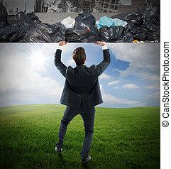 cambio, el, ambiente
