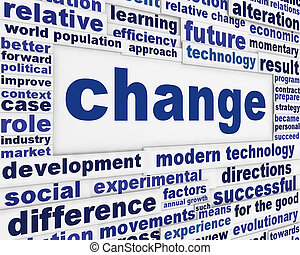 cambio, fondo conceptual