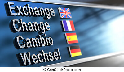 cambio, mudança, câmbio, wechsel