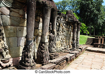 Cambodia - Angkor - Terrace of the Elephants - Terrace of...