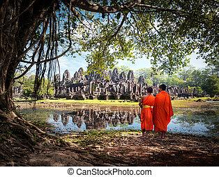 Cambodia, Angkor Wat - Siem Reap, Cambodia. Angkor Wat and...