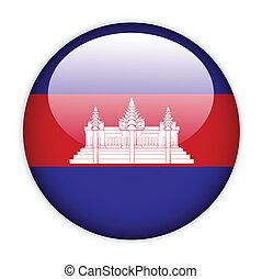 Cambodia flag button