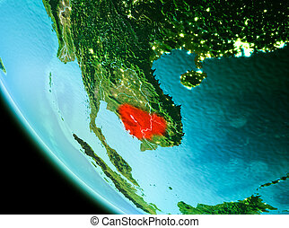 Cambodia in red in the evening