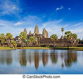 Angkor Wat - Cambodia landmark Angkor Wat with reflection in...