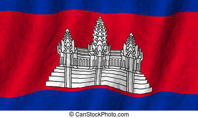Cambodia looping flag animated background