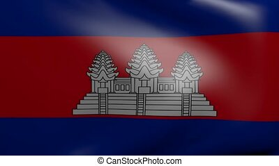 cambodia strong wind flag
