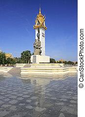 Cambodia-Vietnam Friendship Monument, Phnom Penh, Cambodia