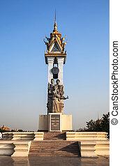 Cambodia Vietnam Friendship Monument, Phnom Penh, Cambodia.