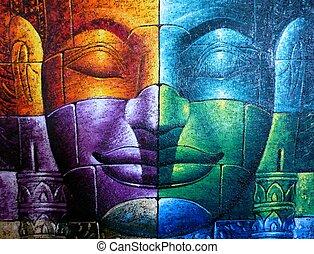 cambodian , βούδας , έγχρωμος , ζεσεεδ