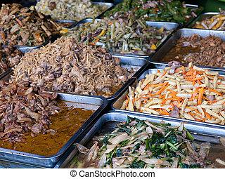 Cambodian food at a market