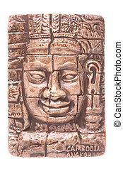Cambodian Fridge Magnet Isolated - Isolated macro image of a...