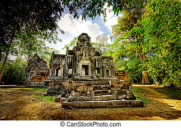Cambodian temple ruins