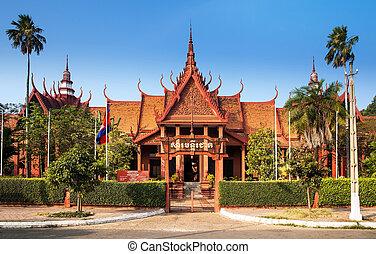 cambodia's, esto, primero, museo, museum., cultural, ...