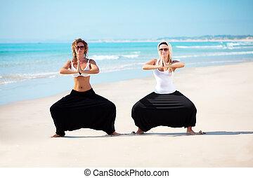 cambojano, mulher, calças, bonito