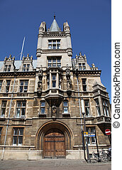 Cambridge - England - Typical historical stone building in...