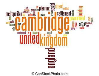 cambridge, palavra, nuvem