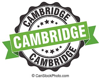 cambridge, redondo, fita, selo