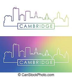 cambridge, skyline.