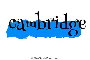 Cambridge sticker stamp