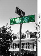 Cambridge street st in Cambridge Massachusetts