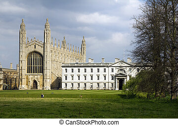 View of King's College Chapel from the Backs area of Cambridge