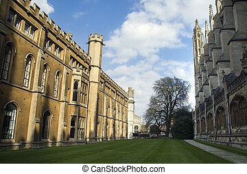 View of the famous King's College at Cambridge