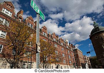 Cambrige street in Massachusetts