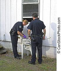 cambriolage, investigation, police