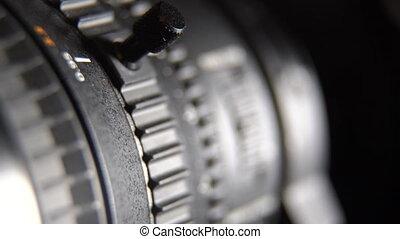Camcorder camera zoom lens adjustment