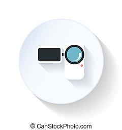 Camcorder flat icon