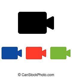 Camcorder glyph icon