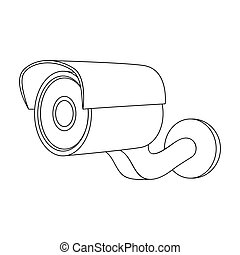 Camcorder, single icon in outline style.Camcorder, vector symbol stock illustration web.