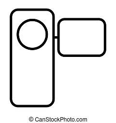 Camcorder thin line icon. Vector pictogram