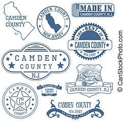 camden, condado, señales, genérico, nj, sellos