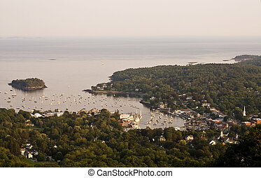 Camden, Maine - View from the top of Mount Battie, in...