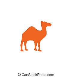 Camel animal logo design template