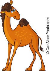 Camel. Cartoon african wild animal