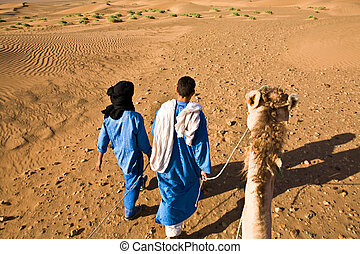 Desert camel adventure with two bedouin guide, Zagora, Morocco