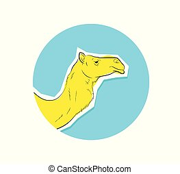 Camel Face Closeup Vector